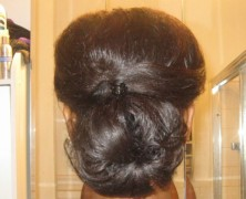 Signature Hairstyle for Transitioning from Relaxed to Natural Hair – Updo