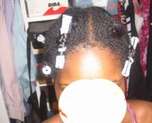 Braid Out on transitioning hair – 87 weeks and 3 days post relaxer
