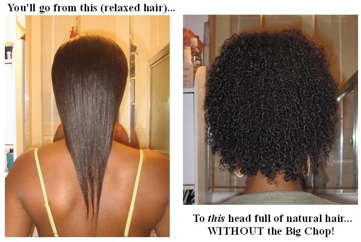 From Relaxed To Natural Hair...without The Big Chop