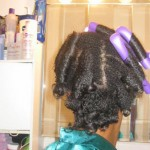 roller set natural hair