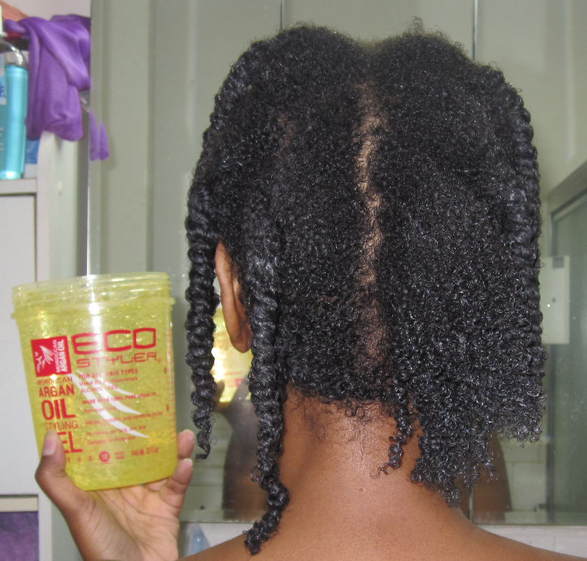 How To Use Hair Styling Gel Moroccan Argan Oil  Eco Styler Gel  Going Natural Transitioning .