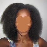 blow out - Splitender on natural hair