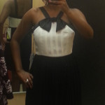 Prabal Gurung for Target collection, Prabal Gurung black and white pleat dress